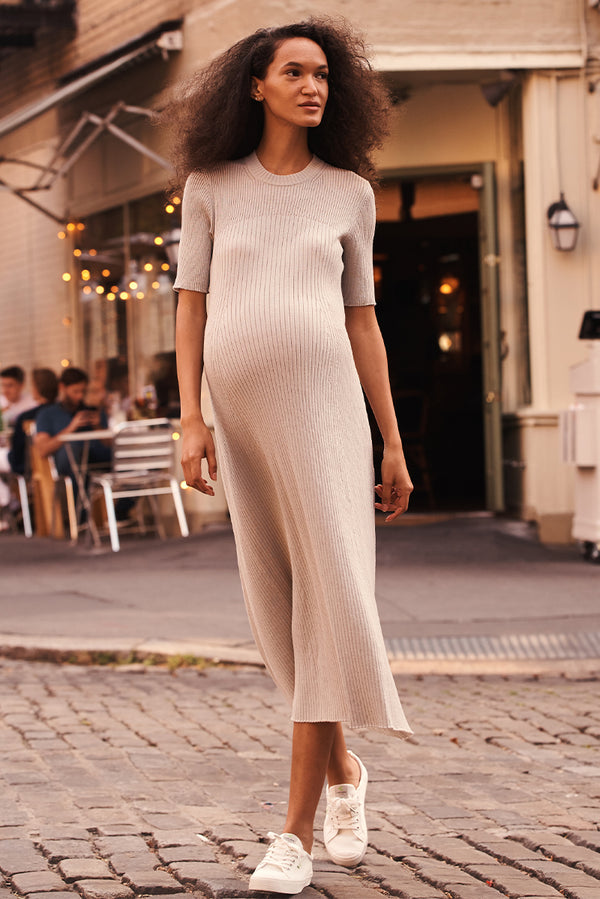 Ribbed Knit Maxi Dress