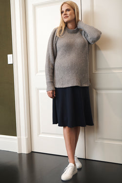 Puff Sleeve Crewneck Sweater