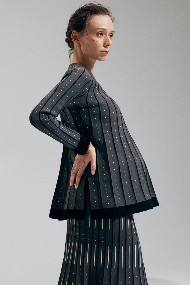 A-Line Pleated Sweater