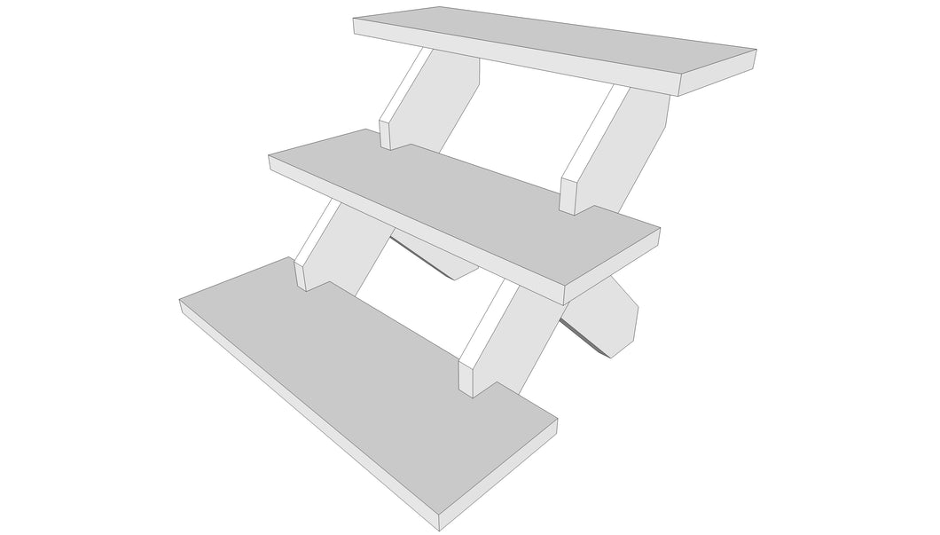 Three tier display stand - Plans