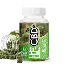 Load image into Gallery viewer, CBDfx Gummy Bears (Jar of 60) Turmeric and Spirulina 300mg