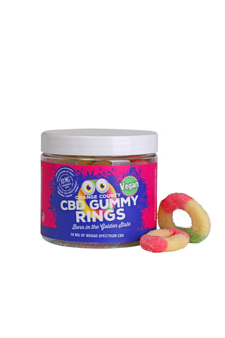 Orange county CBD Vegan Gummy Rings x 20
