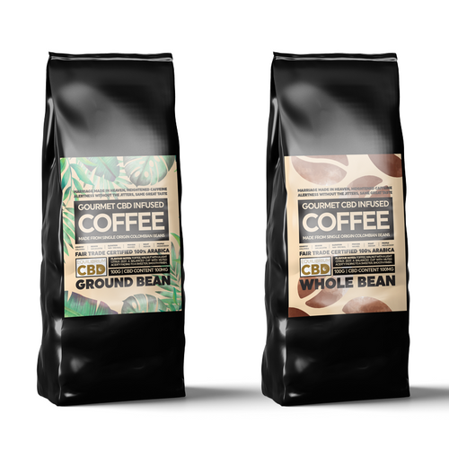 CBD infused Coffee | Ground and Beans| Natural CBD Online Store