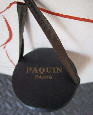 Parfums Paquin Paris Store Display Art Sign Pierre Simon Vintage1955 Easel Hat Box Fashion