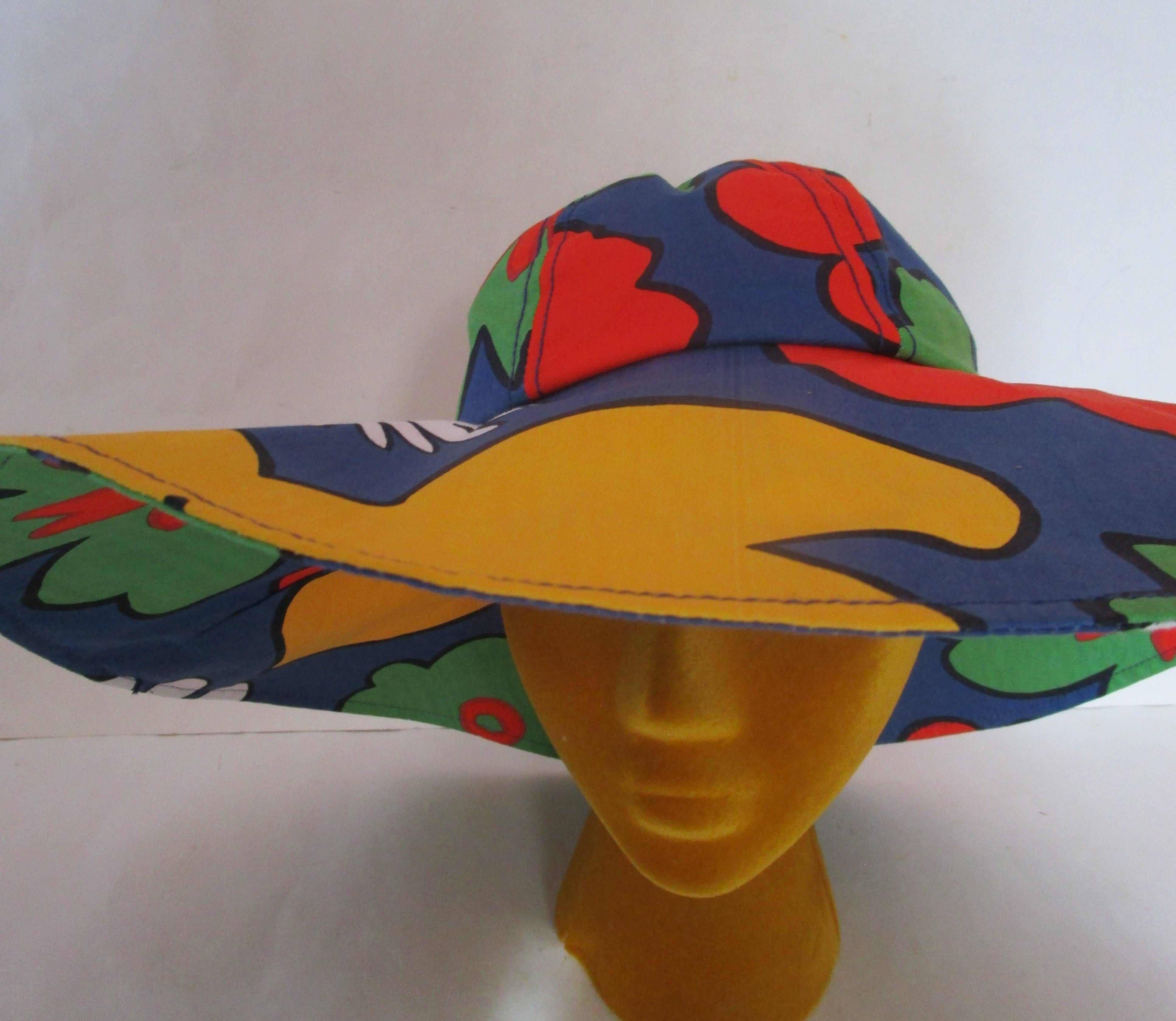 Flower Power Marimekko Floppy Packable Wide Brim Hat Sun Beach Summer