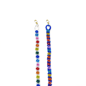Sticks Rainbow Flower Masklace