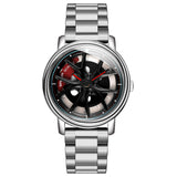 Spinning Wheel Quartz Watch Type A (Steel Strap)