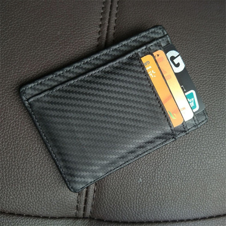 Leather & Carbon fiber wallet