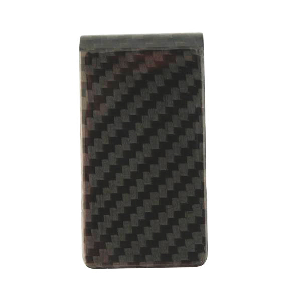 "Carbon Fiber ""Silver Wolf"" Money Clip"