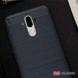 [HUAWEI] 4 COLORS Shockproof Soft Carbon fiber Phone case