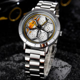 Spinning Wheel Quartz Watch Type B (Steel Strap)