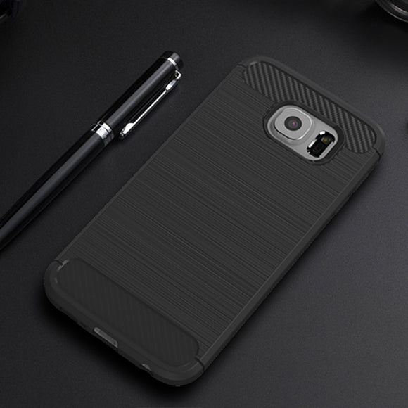 samsung soft carbon fiber phone case black