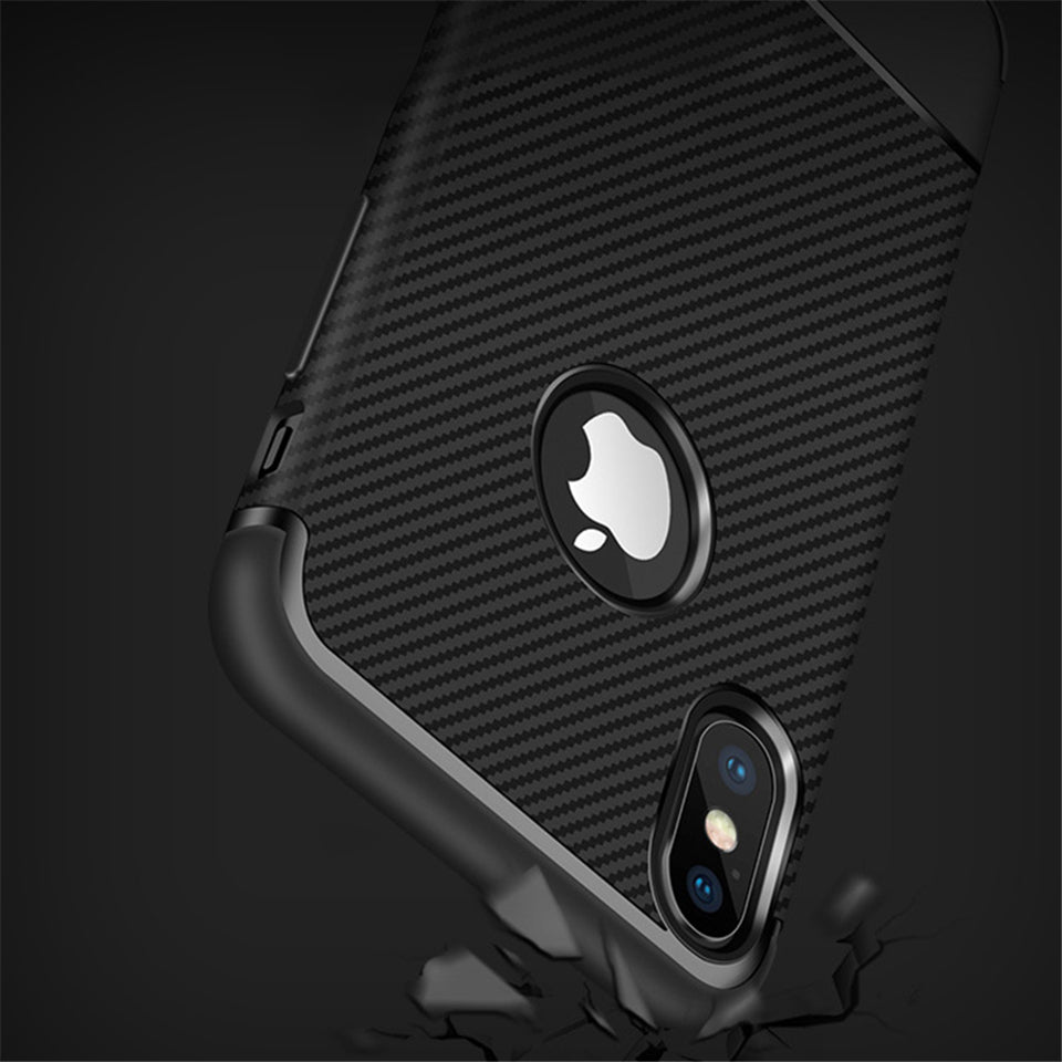 iphone soft carbon fiber phone case black
