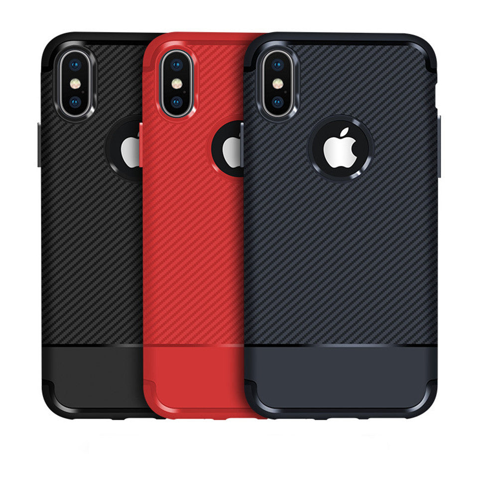 iphone soft carbon fiber phone case black red blue