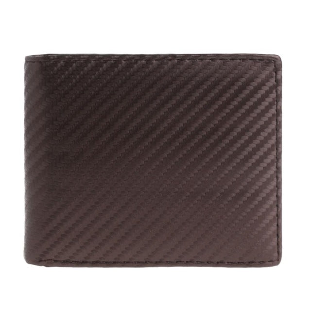 coffee Leather & Carbon fiber wallet