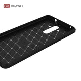 SHOCKPROOF Soft Carbon fiber phone case for any Huawei phone black