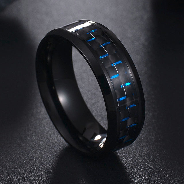 Carbon fiber & stainless steel ring