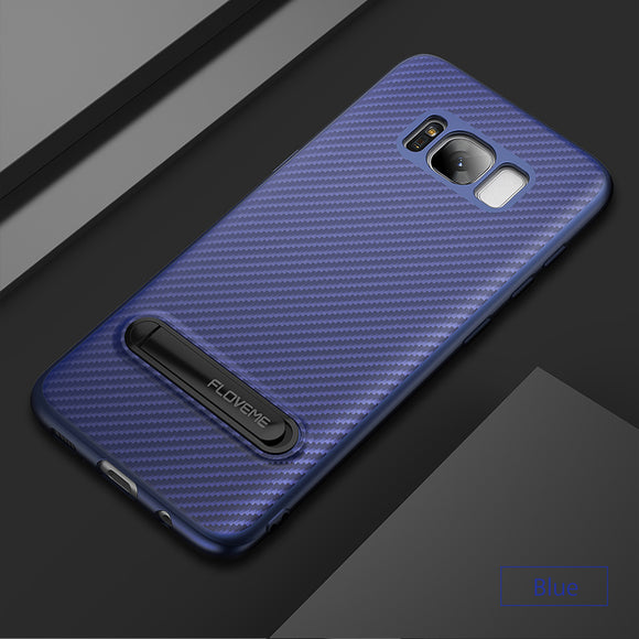 samsung soft carbon fiber phone case blue