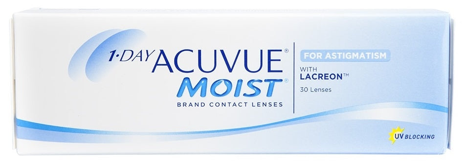 1-DAY ACUVUE MOIST TORICO BLANCOS G:-2.25 -1.75 X 80