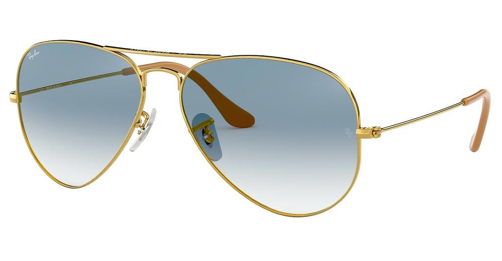 RAY BAN RB 3025 AVIATOR LARGE METAL 001/3F 58-14 135