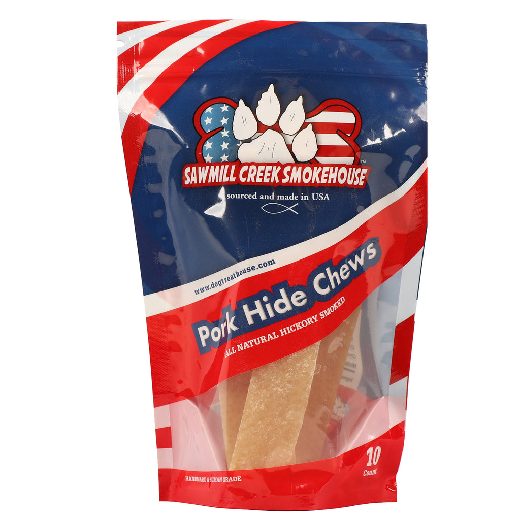 Pork Hide Chews - 10ct