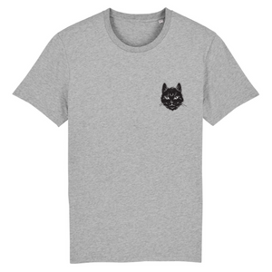 Black Cat Moon Unisex Organic T-shirt