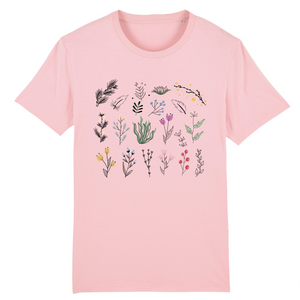 Organic T-shirt Unisex Flowers New