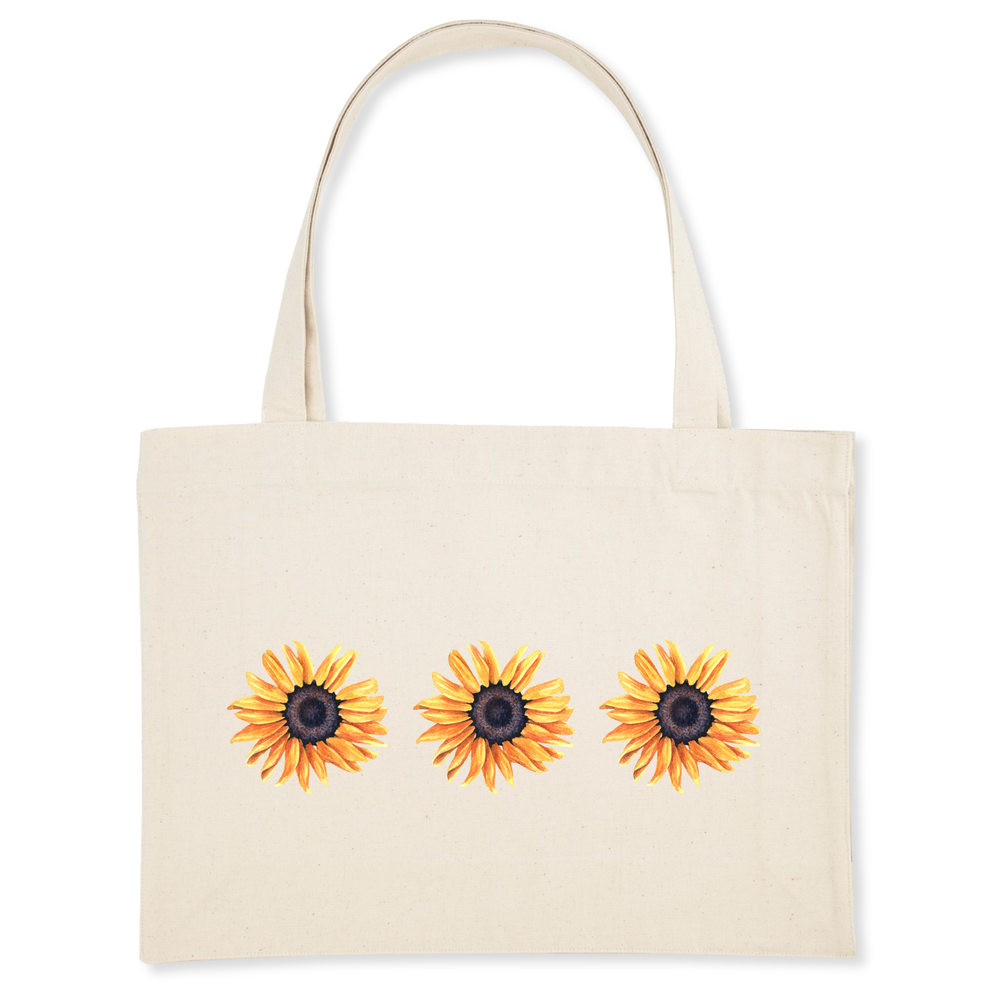 Recycled Cotton Sunflower Shopping bag