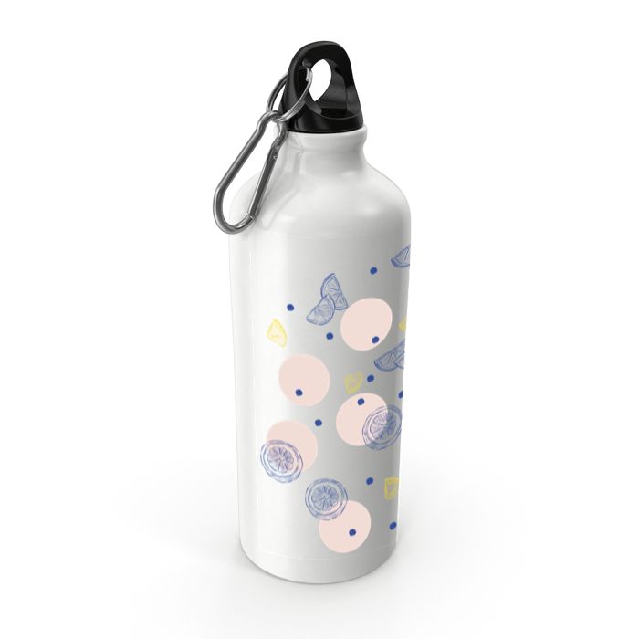 Lemon Aluminium Water Bottle