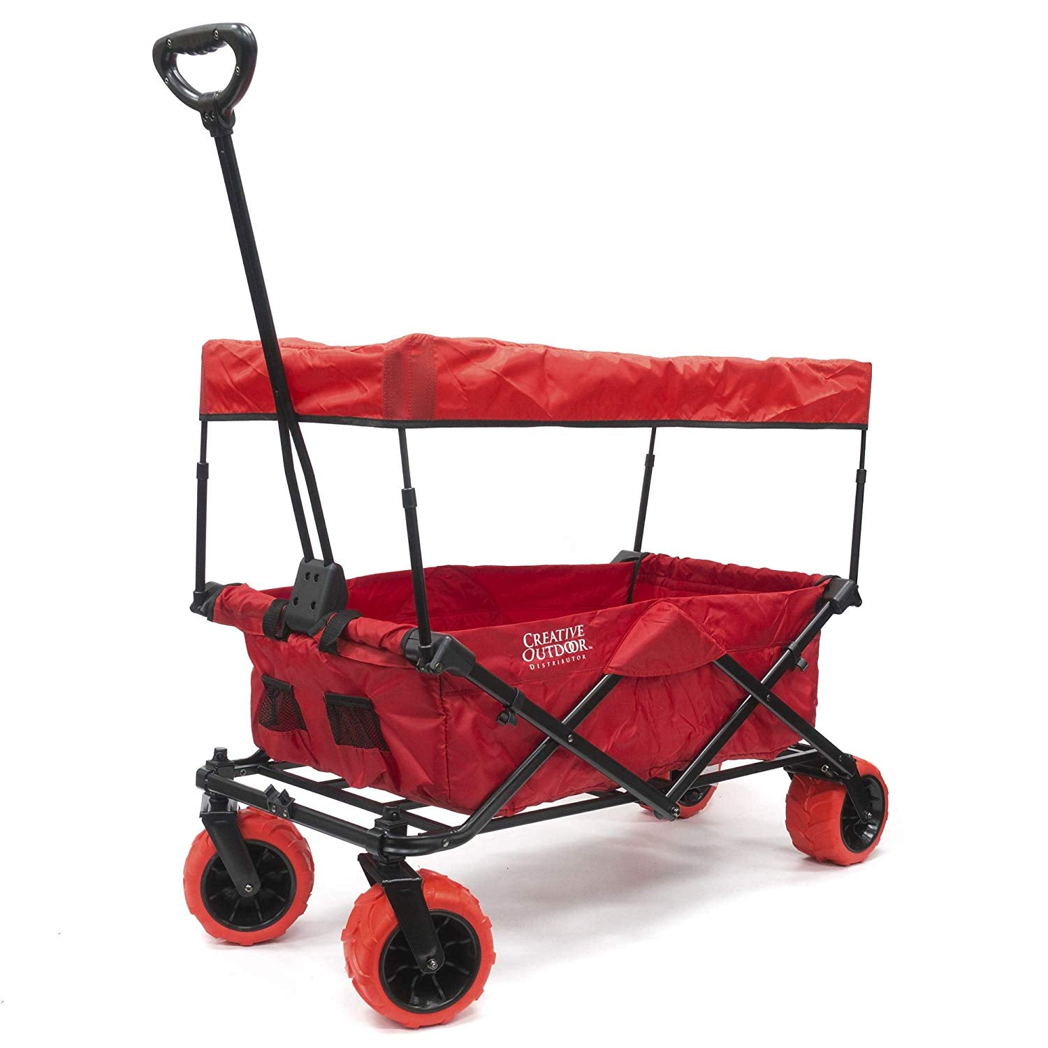 Creative Outdoor Distributor All-terrain Folding Wagon (red) - Cleve Wood d738e8a4cb44