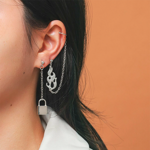 YUNIK 'Flame Lock' Earrings