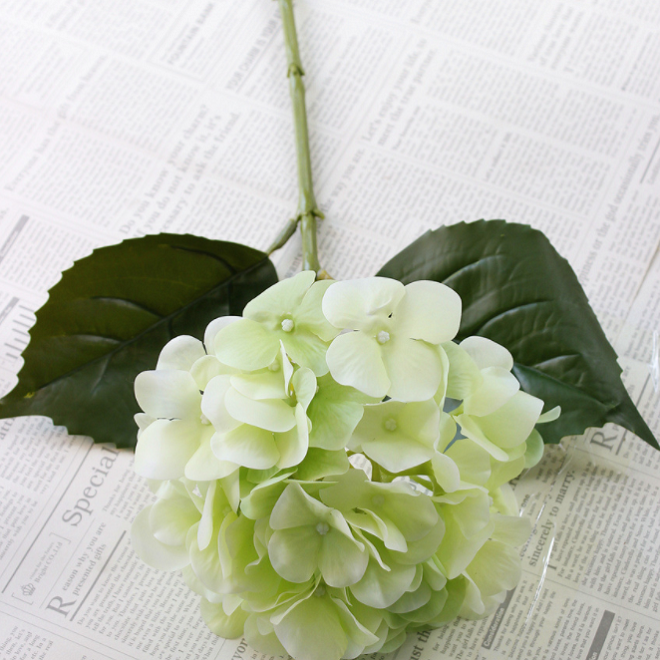 Real Touch Hydrangea Single Head - Tall 64cm - rosemorning