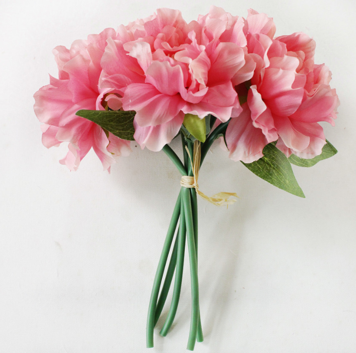 Artificial Peony 5 Heads - Tall 28cm - rosemorning