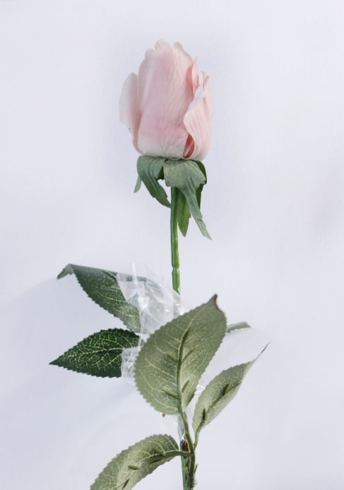 Real Touch Rose Small Head 1 Stem- Tall 45cm - rosemorning