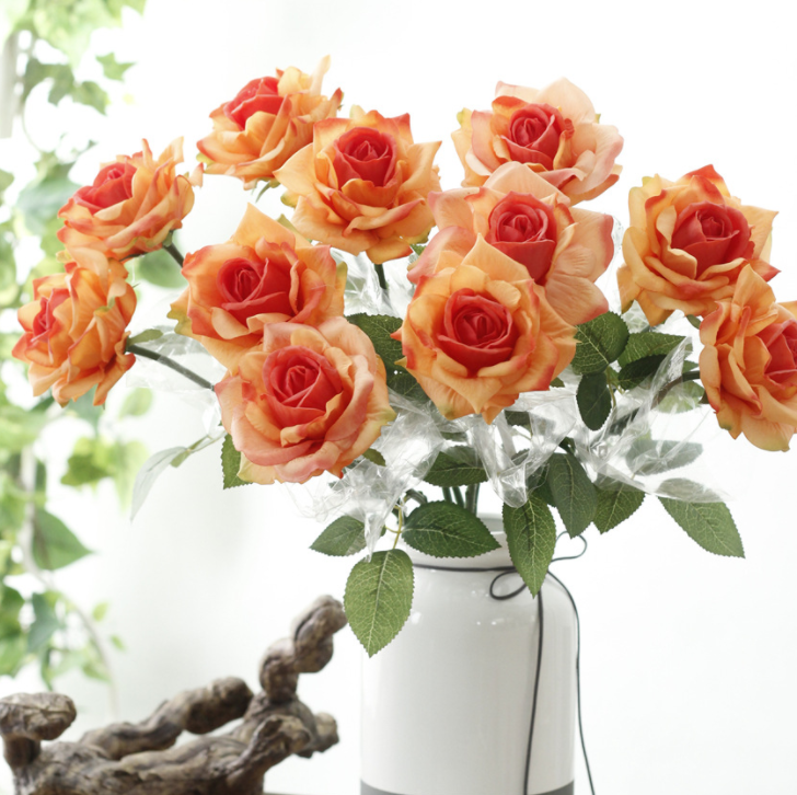 Real Touch Rose Silk Flower - Tall 58cm - rosemorning