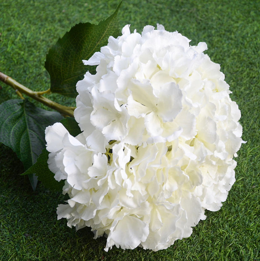 Artificial Oversize Single Hydrangea - Tall 90cm - rosemorning