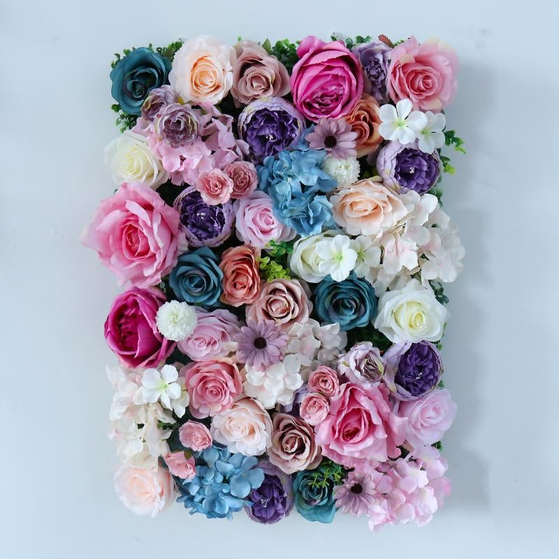 Artificial Flower Wall   Panels Hydrangea Rose -  60cm*40cm - rosemorning