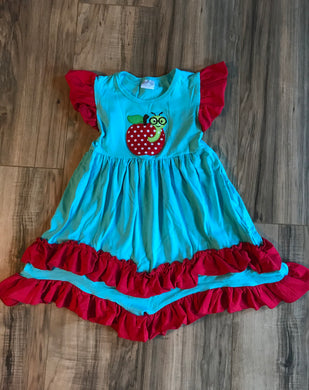 Apple Tiered Ruffle Dress