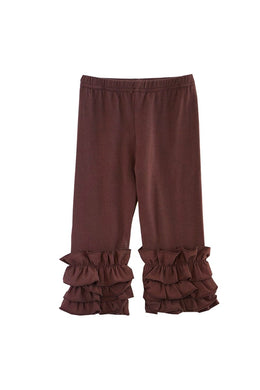 Brown Ruffle Pants
