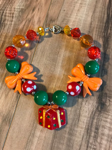 Christmas Present Chunky Bead Necklace