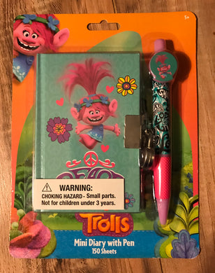Trolls Mini Diary Set