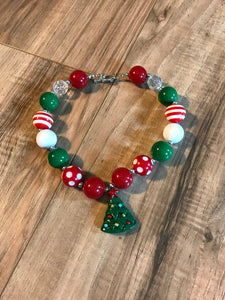 Christmas Tree Chunky Bead Necklace