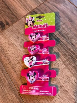 Minnie Mouse Hair Ties Set