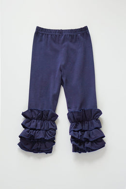 Navy Blue Ruffle Pants