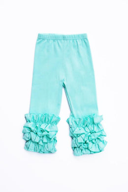 Mint Ruffle Pants
