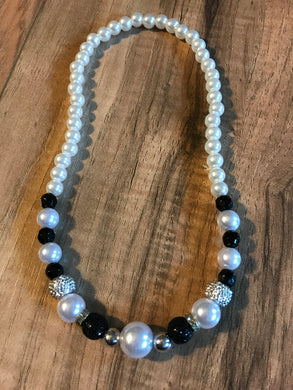 White & Black Pearl Necklace