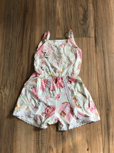 Farm Animal Country Girl Lace Romper Outfit