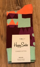 Load image into Gallery viewer, Happy Socks (teal & purple)