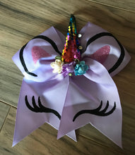 "Load image into Gallery viewer, 8"" Unicorn Hair Bow"
