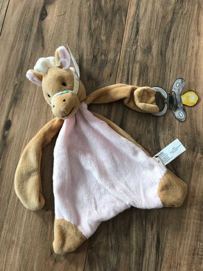 Nellie the Horse Paci-holder Baby Blanket